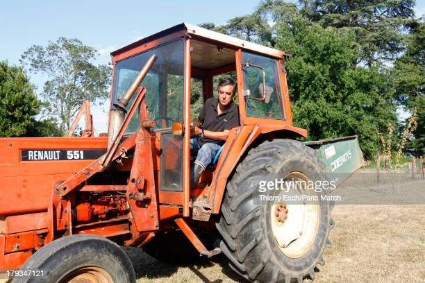 SOLESMES SARTHE FRANCE FRANCE AUGUST 23 Lawyer politician and former French prime ministerFrancois Fillon is photographed for Paris Match during his...