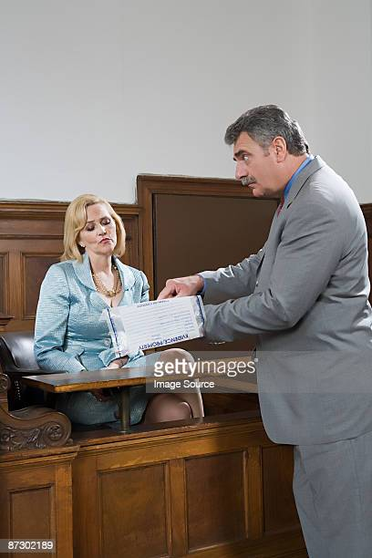 A lawyer questioning a suspect