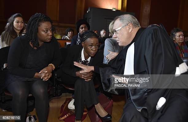 CORRECTION Lawyer Simon Cohen speaks to Estelle and Elsa respectively the mother and sister of a 17yearold who was shot while trying to break into a...