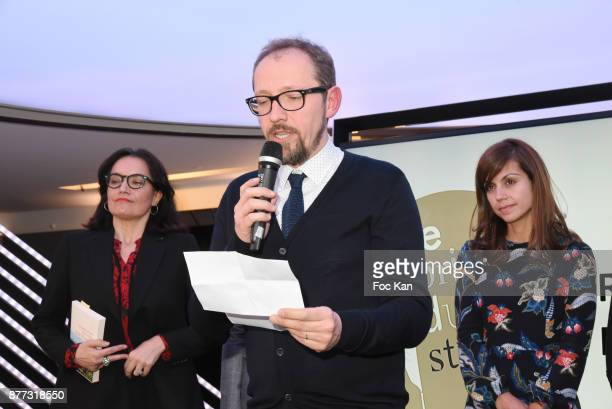 Lawyer Sophie Obadia Stanislas Rigot and Livre de Poche general director Veronique Cardi attend 'Le Prix Du Style 2017' Literary awards Hosted by BMW...
