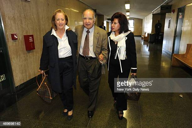 Lawyer Susan Karten and Sylvia and Antonio Cachay parents of Sylvie Cachay found dead at Soho House in Dec 2010 leave a pretrial hearing for...