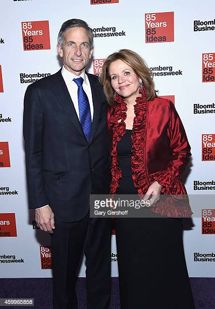 Lawyer Tim Jessell and opera singer Renee Fleming attend Bloomberg Businessweek's 85th Anniversary Celebration at The American Museum of Natural...