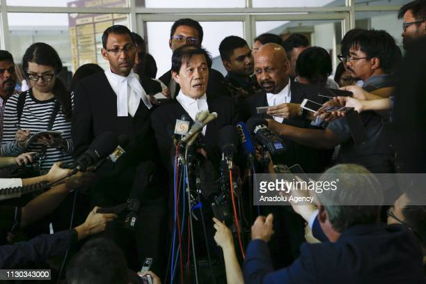 Lawyer to Vietnamese Doan Thi Huong Hisyam Teh Poh Teik talks to press member after a court session of her alleged role in the assassination of Kim...