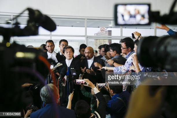 Lawyer to Vietnamese Doan Thi Huong Naran Singh talks to press member after a court session of her alleged role in the assassination of Kim Jongnam...