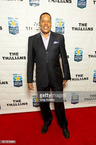 Lawyer writer and radio and television personality Larry Elder arrives for The Thalians Presidents Club's Holiday Brunch Spectacular at Montage...