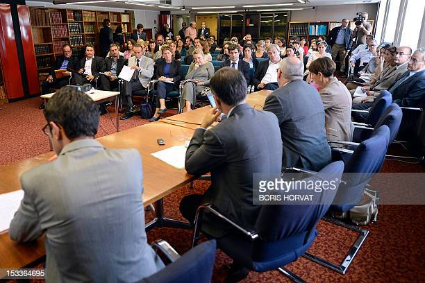 Lawyers attend a technical meeting on October 4 2012 at the Tribunal de Grande Instance court in Marseille southern France headed by Marseille's...