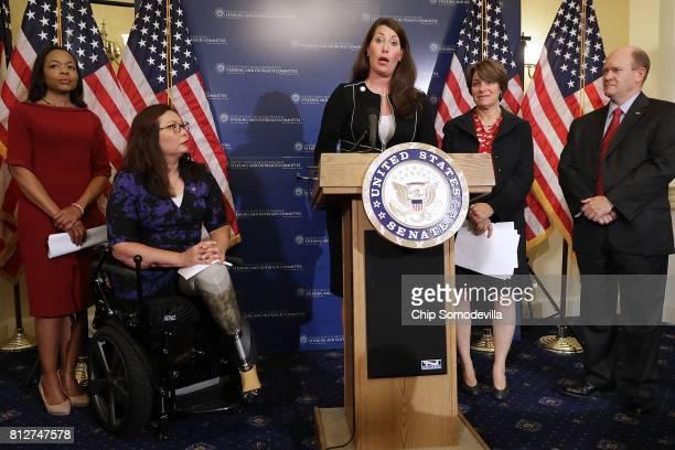 Lawyers' Committee for Civil Rights Under Law President Kristen Clarke Sen Tammy Duckworth Kentucky State Secretary Alison Grimesand Sen Amy...