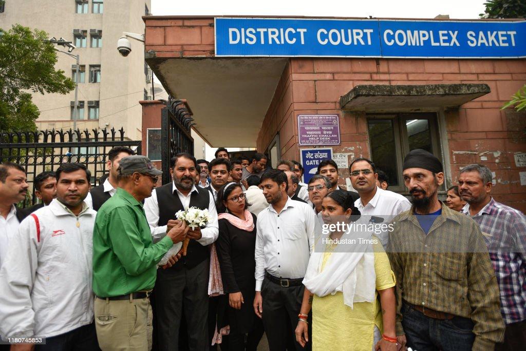 Delhi Lawyers Strike In Protest Over Tis Hazari Clash : News Photo