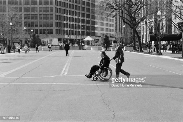 Lawyers for President Bill Clinton Charles Ruff and Lanny Breuer in Lafayette Square on their way to the White House after President Bill Clinton was...