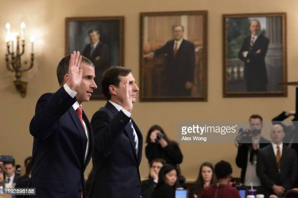 Lawyers for the House Intelligence Committee, Daniel Goldman representing the majority Democrats, and Stephen Castor representing the minority...
