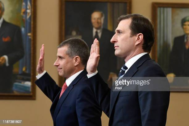 Lawyers for the House Intelligence Committee Stephen Castor representing the minority Republicans and Daniel Goldman representing the majority...