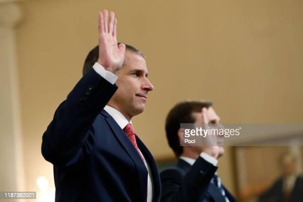 Lawyers for the House Intelligence Committee, Stephen Castor representing the minority Republicans and Daniel Goldman representing the majority...