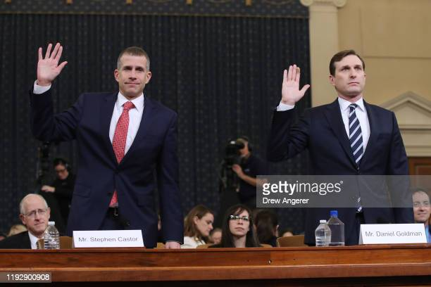 Lawyers for the House Intelligence Committee, Stephen Castor representing the minority Republicans, and Daniel Goldman representing the majority...