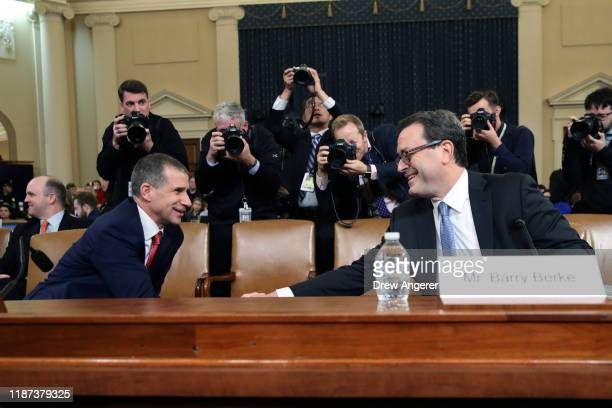 Lawyers for the House Judiciary Committee, Barry Berke representing the majority Democrats, and Stephen Castor representing the minority Republicans,...
