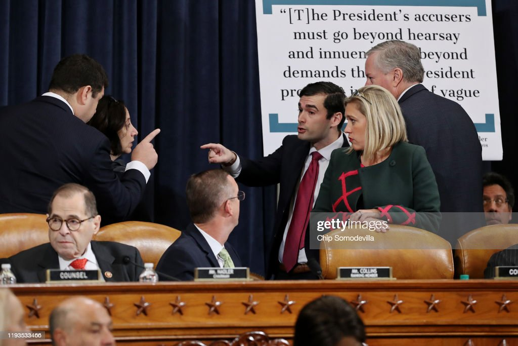 House Judiciary Committee Meets For Markup On Articles Of Impeachment : News Photo
