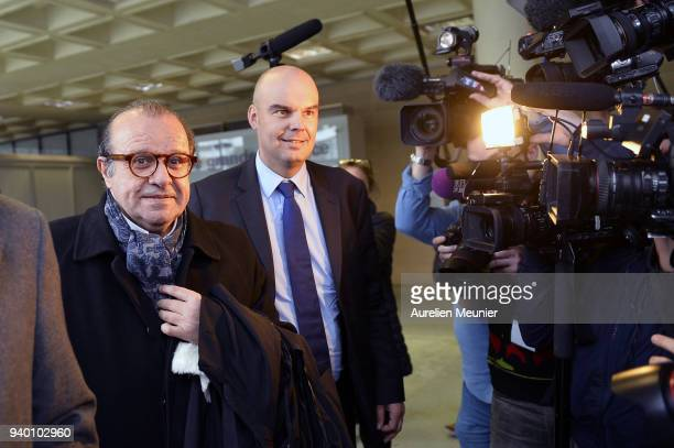Lawyers Herve Temime and Emmanuel Ravanas representing Laura Smet arrive to the courthouse for the Johnny Hallyday hearing today at Tribunal de...
