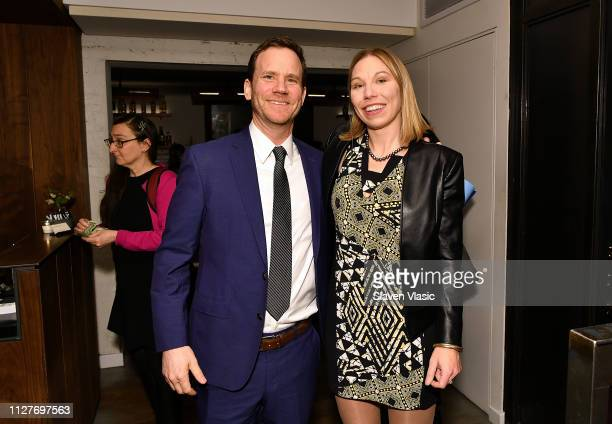 Lawyers Justin Brown and Susan Simpson attend after party for NY premiere of HBO's The Case Against Adnan Syed at Loring Place on February 26 2019 in...