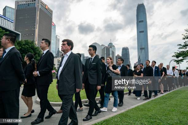 Lawyers march during a protest from the Court of Final Appeal to the Central Government Complex on June 6 2019 in Hong Kong China Thousands of Hong...