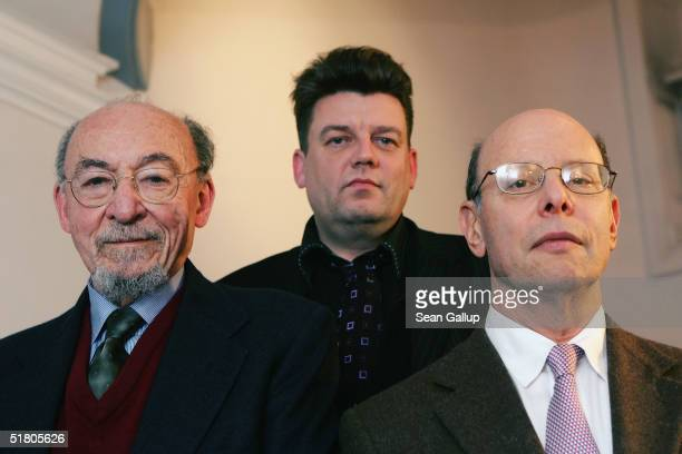 Lawyers Peter Weiss and Michael Ratner of the New York based Center for Constitutional Rights and German lawyer Wolfgang Kaleck pose for a portrait...