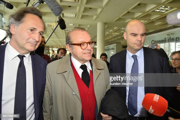Lawyers Pierre Olivier Sur Herve Temime and Emmanuel Ravanas representing Laura Smet arrive to the courthouse for the Johnny Hallyday hearing...