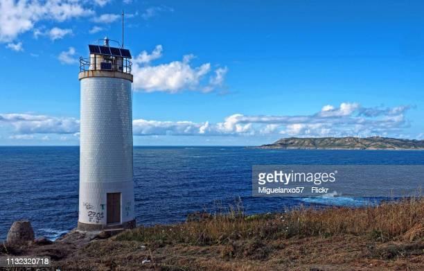 Laxe Lighthouse on the Coast of Death, Galicia (Spain)