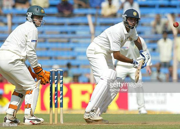Laxman of India in action during day three of the Fourth Test between India and Australia at Wankhede Stadium on November 5 2004 in Mumbai India