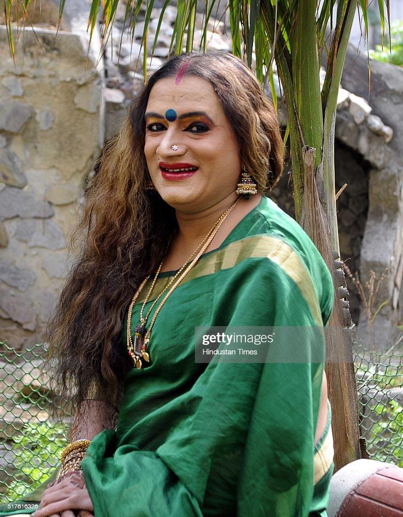 HT Brunch Exclusive: Profile Shoot Of Transgender Laxmi Narayan Tripathi : Nyhetsfoto