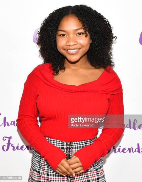 Laya DeLeon Hayes attends Chandler Kinney's 3rd Annual Holiday Toy Drive Event on December 09 2018 in Los Angeles California