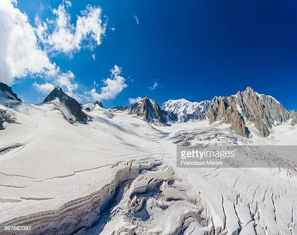Layed deep snow at Mont blanc, France