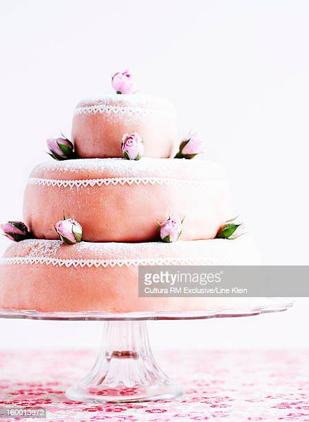 layer cake with marzipan - klein stock pictures, royalty-free photos & images
