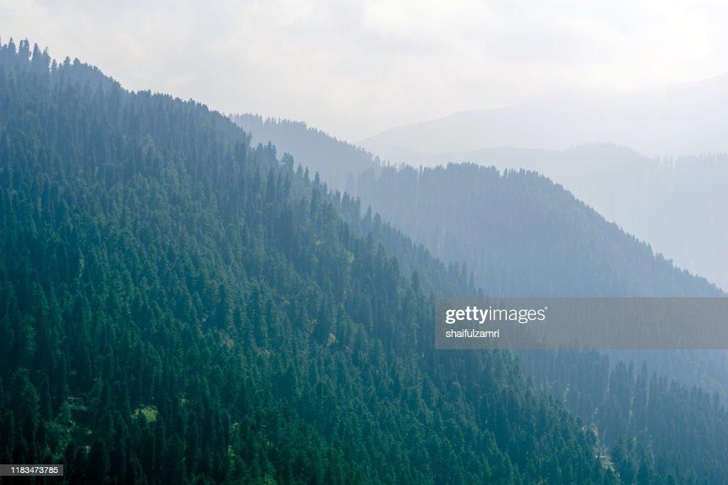 Layered of mountains over Gulmarg, Kashmir, India. : Stock Photo