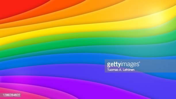 layered rainbow colored colorful background. - ゲイプライドのシンボル ストックフォトと画像