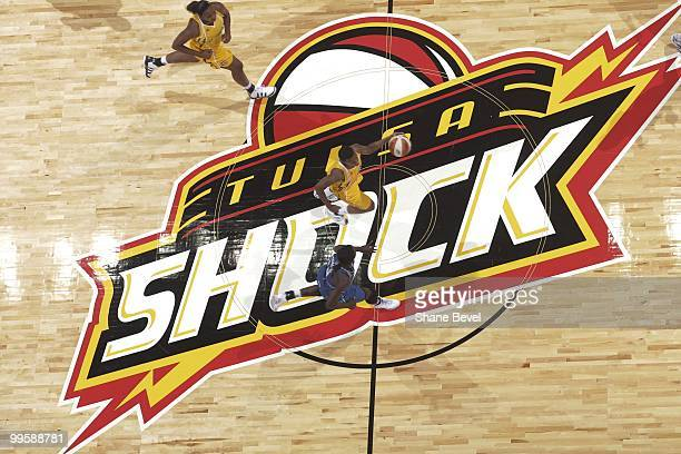 P layers cross center court during the opening night game between the Minnesota Lynx and the Tulsa Shock at the BOK Center in Tulsa Oklahoma NOTE TO...