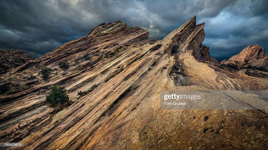 Layers of Vasquez Rocks : Stock Photo