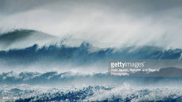 Layers of Waves and Splash After a Strong Storm