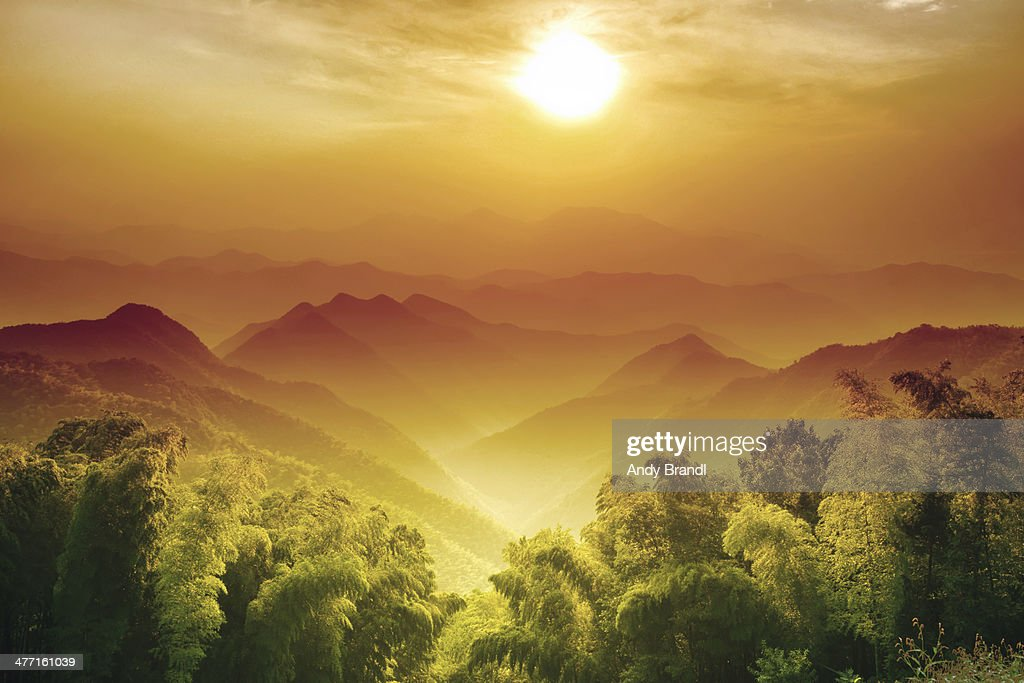 Layers of Zhejiang (China) : Stock Photo