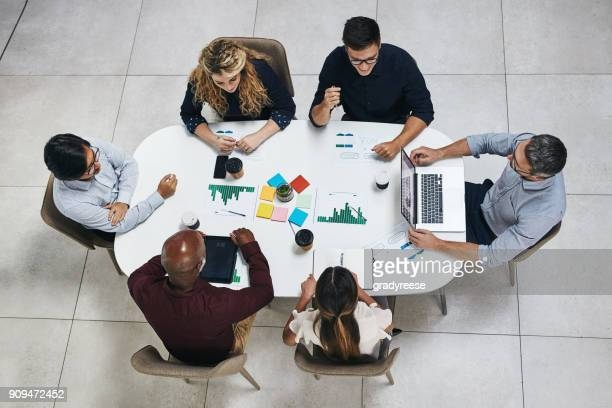 Laying all their ideas on the table
