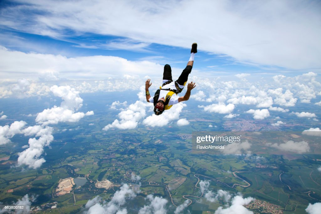 laying in the sky : Stock Photo