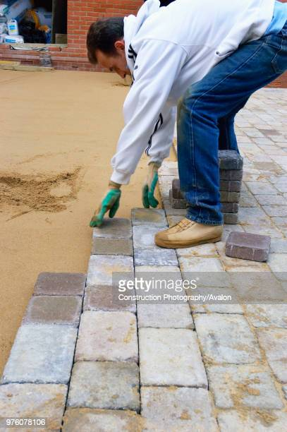 Laying Precast paving stone for a driveway England, UK.