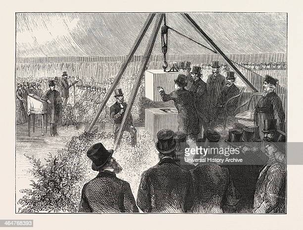 Laying The Foundation Stone Of The East London Synagogue East London Synagogue Stepney Green On Monday April 17th 1876 Engraving 1876 UK