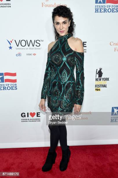 Layla Alizada attends the 11th Annual Stand Up for Heroes Event presented by The New York Comedy Festival and The Bob Woodruff Foundation at The...