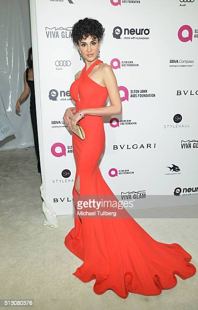 Layla Alizada attends the 24th Annual Elton John AIDS Foundation's Oscar Viewing Party on February 28 2016 in West Hollywood California