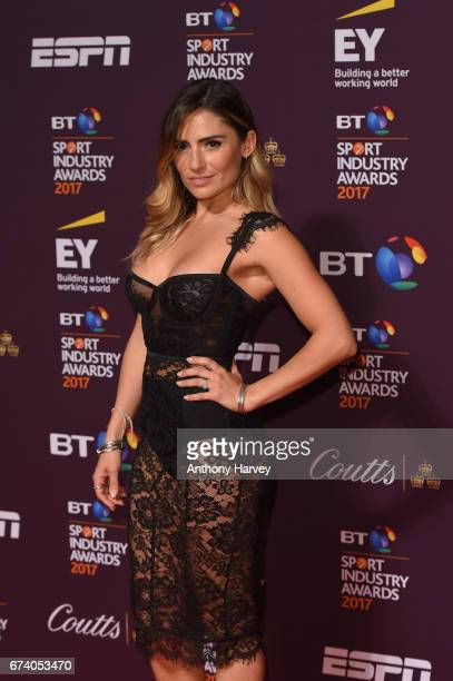 Layla AnnaLee poses on the red carpet during the BT Sport Industry Awards 2017 at Battersea Evolution on April 27 2017 in London England The BT Sport...