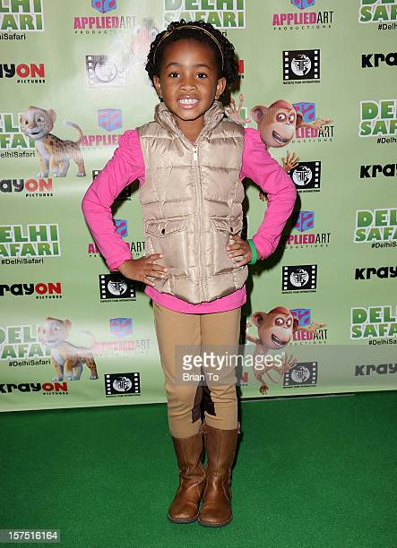 Layla Crawford attends 'Delhi Safari' Los Angeles premiere at Pacific Theatre at The Grove on December 3 2012 in Los Angeles California
