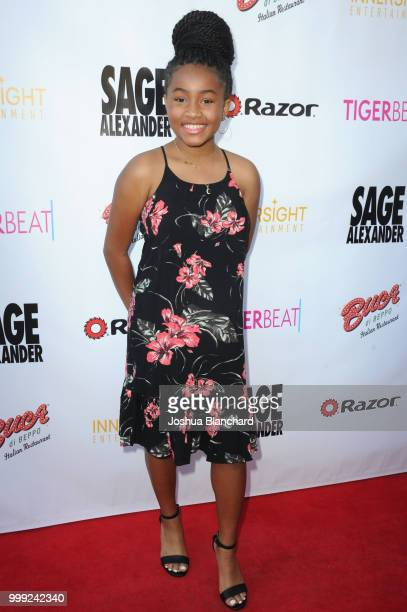 Layla Crawford attends 'Sage Alexander The Dark Realm' Launch Party Cohosted by Innersight Entertainment and TigerBeat Media at El Rey Theatre on...