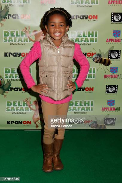 Layla Crawford attends the Delhi Safari Los Angeles premiere at Pacific Theatre at The Grove on December 3 2012 in Los Angeles California