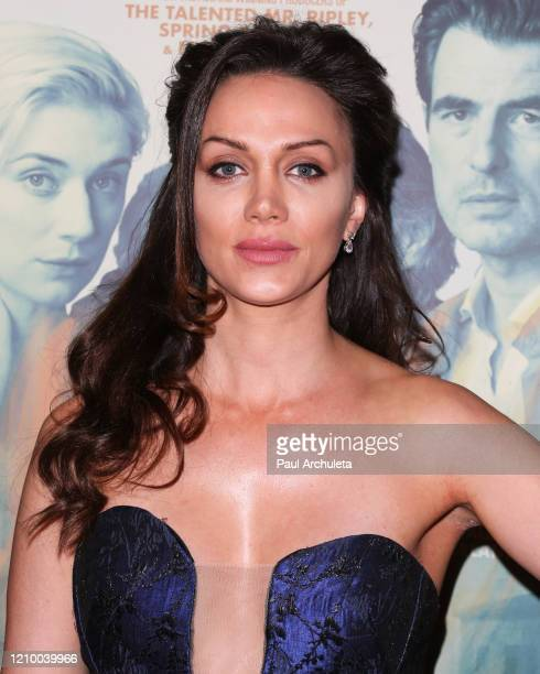 """Layla Louise attends the LA special screening of Sony's """"The Burnt Orange Heresy"""" at Linwood Dunn Theater on March 02, 2020 in Los Angeles,..."""