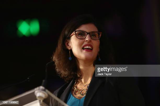 Layla Moran addresses a proremain rally rejecting the the Prime Minister's Brexit deal on November 14 2018 in London England AntiBrexit groups 'Best...