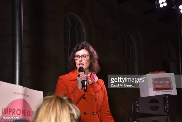 Layla Moran attends the #FreePeriods Protest at Richmond Terrace on December 20 2017 in London England