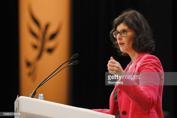 Layla Moran spokesperson for education for the Liberal Democrat Party speaks during the party's annual conference in Brighton UK on Tuesday Sept 18...